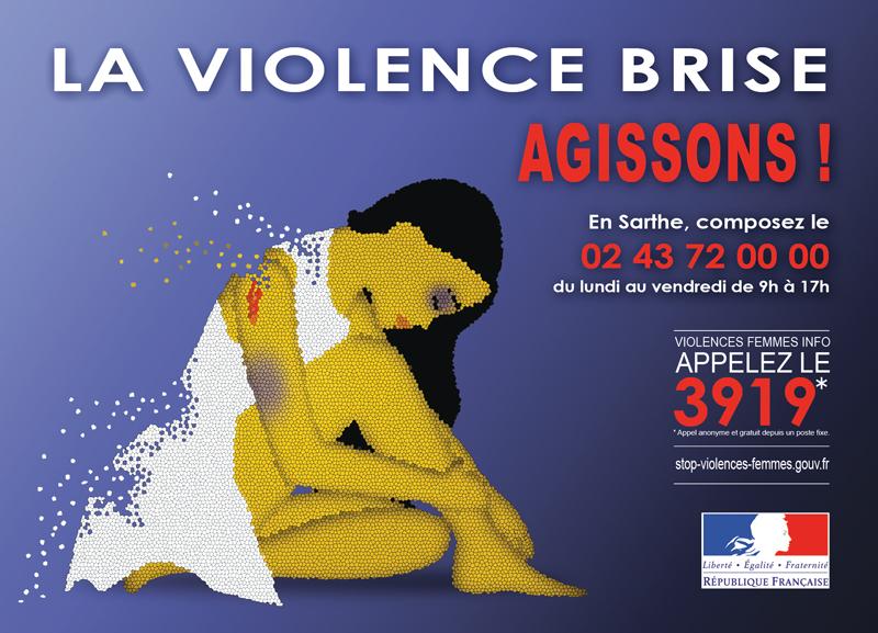 affiche contre la violence