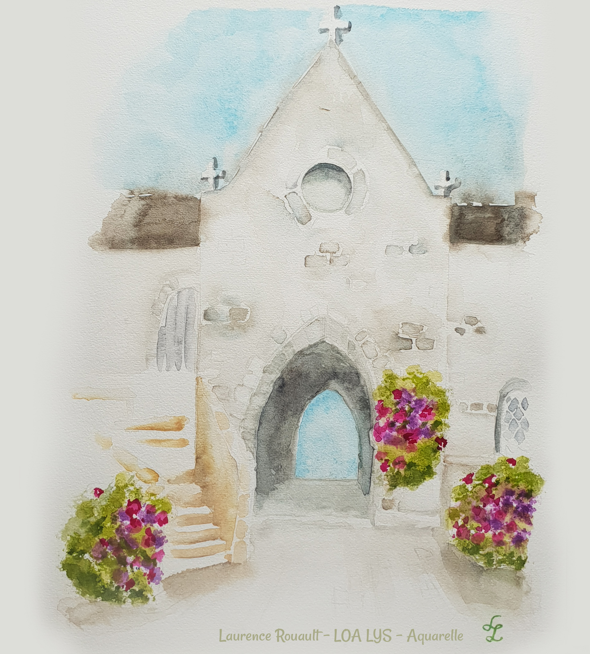 Chapelle aquarelle