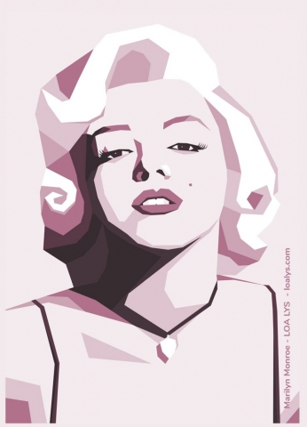 Dessin Marilyn Monroe