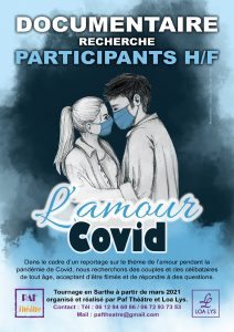 Affiche documentaire l'amour covid