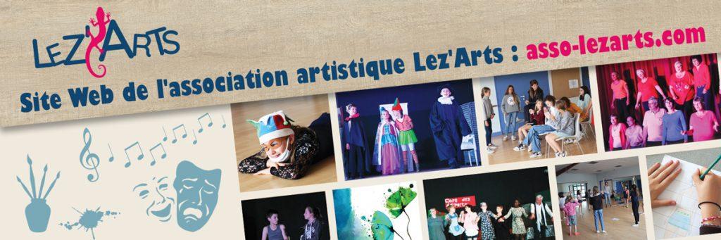 Site créé pour Lez'Arts